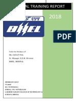 BHEL BHOPAL vocational training report_1301