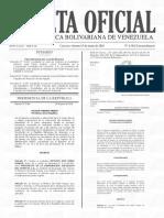 Gaceta Oficial N°6382 Decreto de Reorganizacion del Ministerio de Finanzas