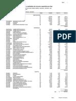 Lista de Insumos - Estructuras