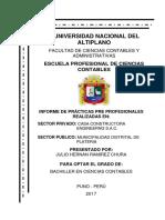 Julio Hernan Ramirez Chura - Informe de Practicas - Privadas y Publicas