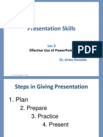 Lecture 3- Effective Use of PowerPoint