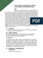 Informe de Poscosecha