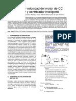 Control de Velocidad Del Motor de CC Con PID y Controlador Inteligente