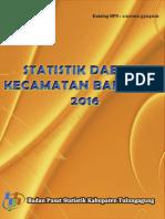 Statistik Daerah Kecamatan Bandung 2016