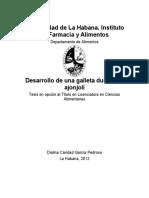 Desarrollo de Una Galleta Dulce - Dialina Caridad Garcia-Pedroso