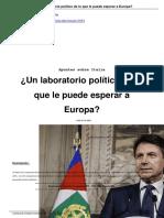 Un Laboratorio Pol Tico de Lo Que Le Puede Esperar a Europa