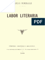 Romagosa Carlos Labor_literaria