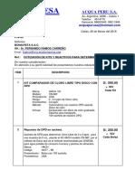 COTIZ. Kits y Reactivos Para Determinar Cloro Libre...26.03.18