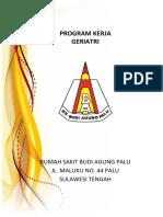 Program Kerja Geriatri Cover