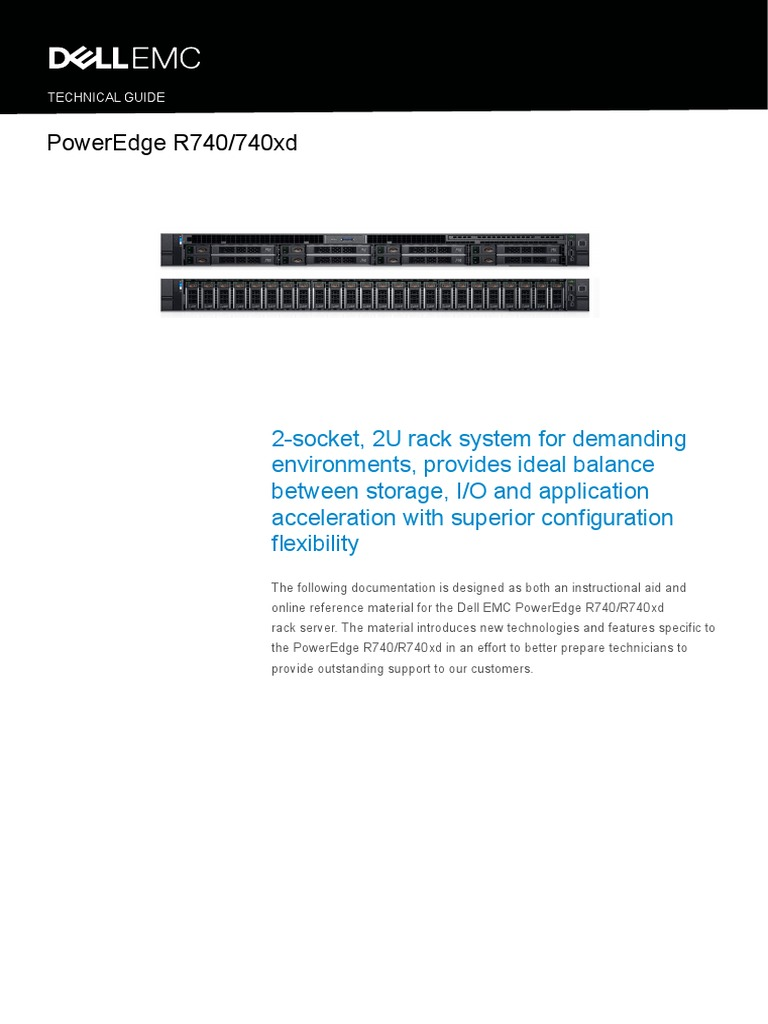 PowerEdge R740 R740xd Technical Guide | Solid State Drive | Computer