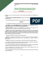 Ley Reglamentaria de La Fracción VI Del Artículo 76 de La Constitución Política...