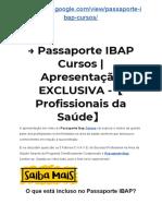 → Passaporte IBAP Cursos | Apresentação EXCLUSIVA -【Profissionais da Saúde】