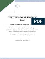 Certificado de Trabajo Crediesckotia