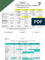 Calendario de Actividades Administrativas Sec41 17-18
