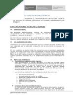 ESPECIFICACIONES TECNICAS MECANICAS