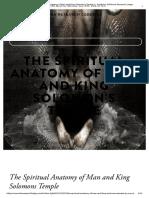 The Spiritual Anatomy of Man and King Solomon's Temple