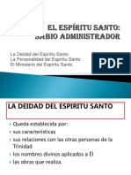 DIAPOSITIVAS El Espiritu Santo Sabio Administrador