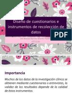 Diseño de cuestionarios e instrumentos de recolección