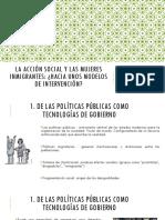 La Acción Social y Las Mujeres Inmigrantes
