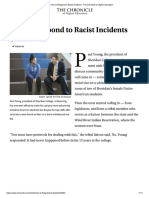 How to Respond to Racist Incidents - The Chronicle of Higher Education