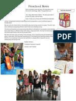 Preschool News July