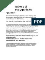 El Diseñador y El Publicista Quien Es Quien - Marcelo Palacios Solórzano