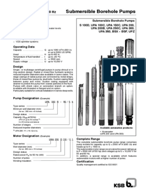 KSB Submersible Borehole Pumps 60 Hz pdf   Bearing