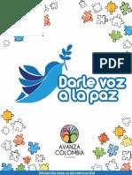 Brochure Darle Voz a la Paz- Avanza Colombia