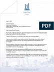 Mayor's Letter to Chair Audit Committee