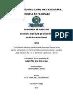 La Auditoría tributaria preventiva del Impuesto General a las Ventas e Impuesto a la Renta en la .pdf