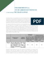 Sanciones Por Errores en La Presentación de Libros Electrónicos y Régimen de Gradualidad
