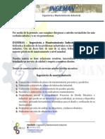 Carta de Presentacion Ingeman