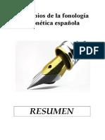 Principios de La Fonología y Fonética Española Resumen