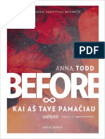 """Anna Todd """"Before. Kai aš tave pamačiau"""""""