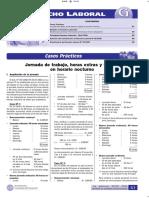 Jornada de trabajo, horas extras y trabajo en horario nocturno - Casos Prácticos.pdf