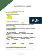 CUESTIONARIO LÓBULOS CEREBRALES