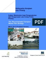 The Recommended Transport Master Plan Strategy