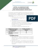 Avis Inscription BAC 2018-2019