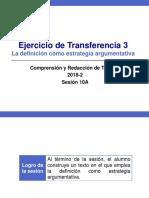10A -10000N01I Ejercicio de Transferencia 3 (Diapositivas) 2018-2