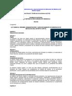 Ley Sobre El Régimen Administración y Aprovechamiento de Minerales No Metálicos Del Distrito Capital