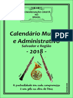 Calendário Musical CCB 2018