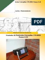 Curso Contador Particulas Caterpillar 170 8500 Pamas s 40 Operacion Mantenimiento Puesta Marcha Accesorios Cuidados