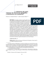 Geodemografia coberturas Del Suelo SIG y Distribución de La Población