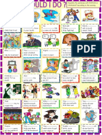 What Should i Do Should Shouldnt for Young Learner Grammar Drills Picture Description Exercises 80089