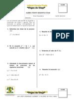 Algebra Bimestral IV