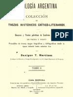 Martinez, Benigno T. - Antologia Argentina (Tomo 2)
