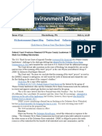 Pa Environment Digest July 9, 2018