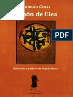 Zenón de Elea, Lecciones 1964-1965 - Giorgio Colli