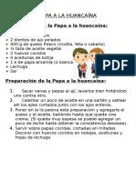 Papa a La Huancaína