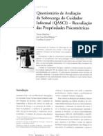 Questionário de avaliação da sobrecarga do cuidador informal QASCI reavaliação das propriedades psicométricas